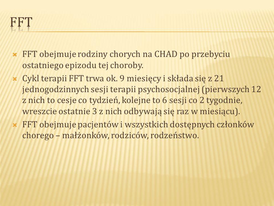 FFT FFT obejmuje rodziny chorych na CHAD po przebyciu ostatniego epizodu tej choroby.