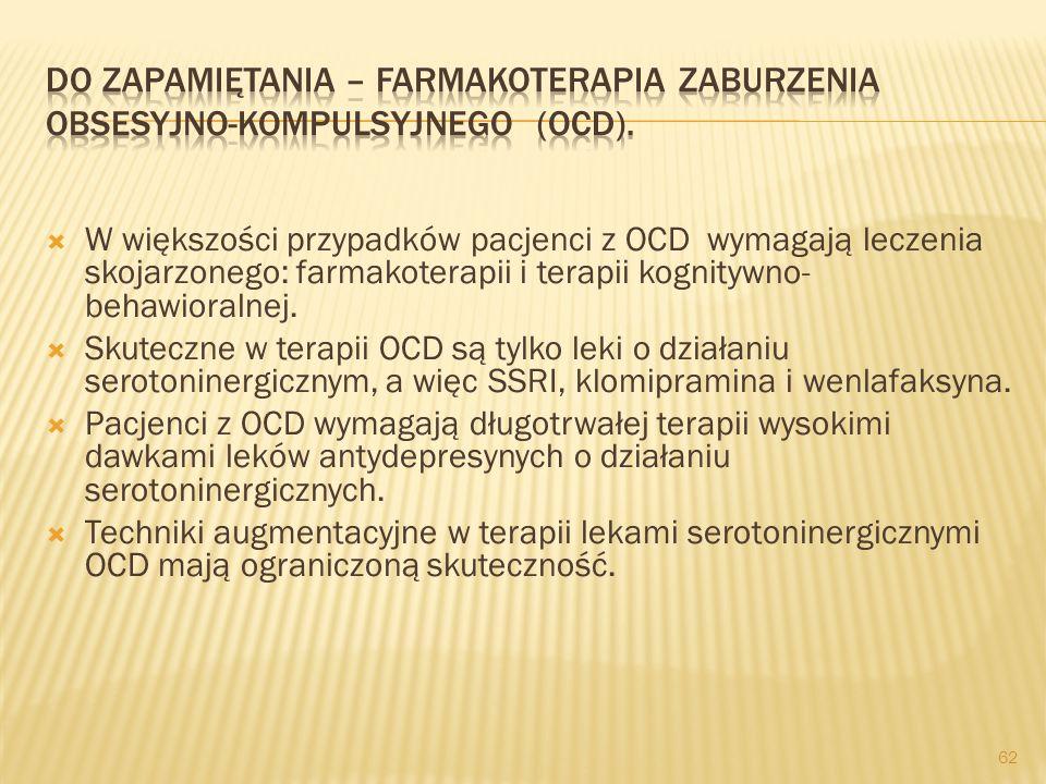 Do zapamiętania – farmakoterapia zaburzenia obsesyjno-kompulsyjnego (OCD).