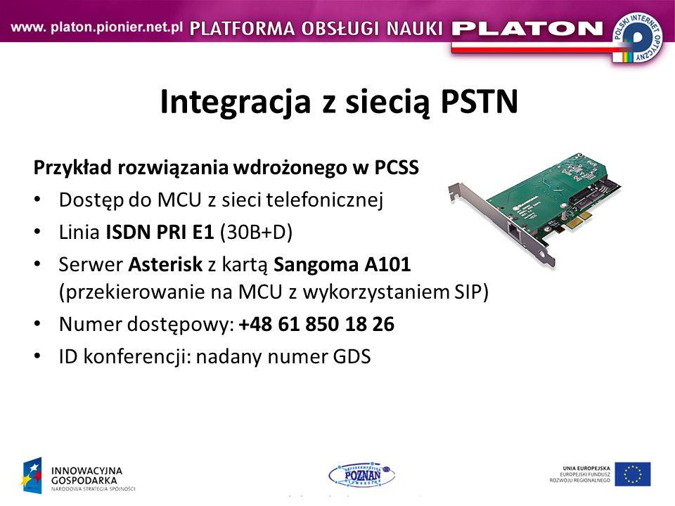 Integracja z siecią PSTN