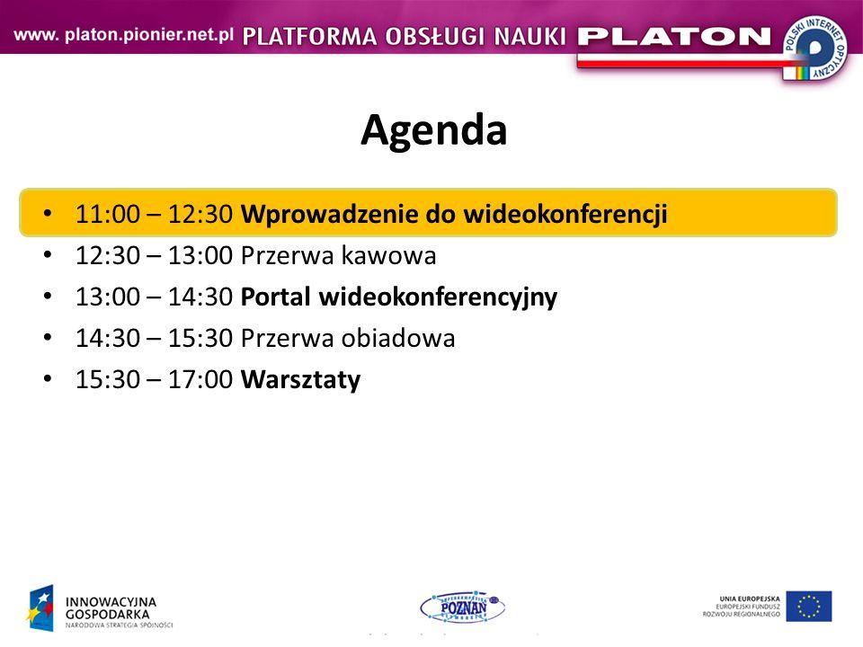 Agenda 11:00 – 12:30 Wprowadzenie do wideokonferencji