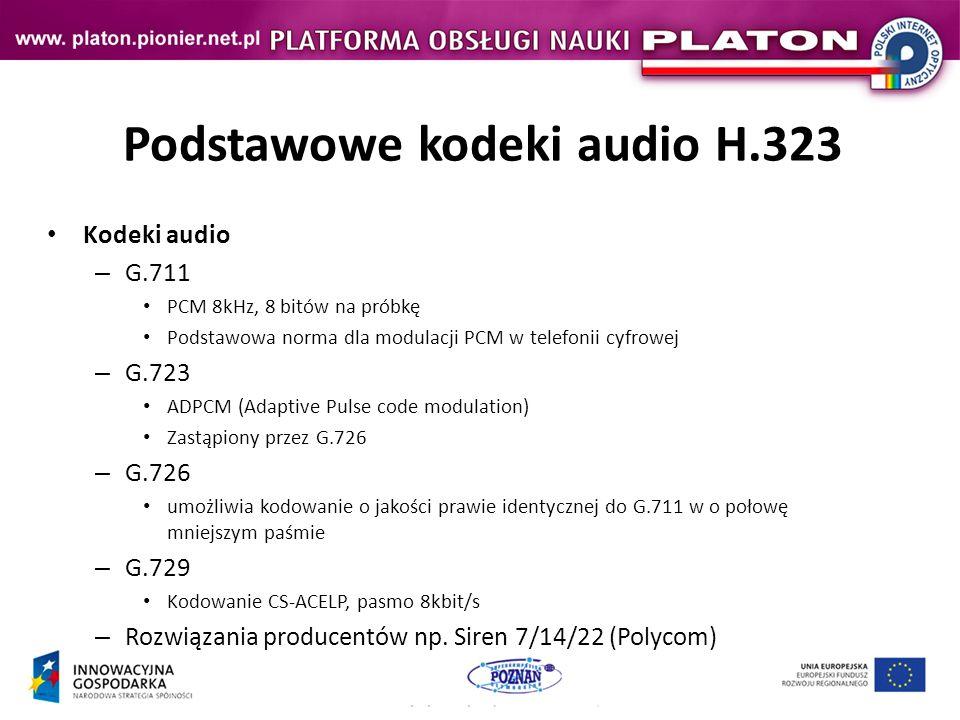Podstawowe kodeki audio H.323
