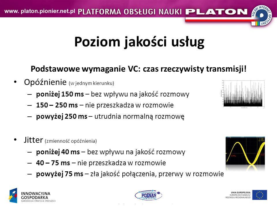 Podstawowe wymaganie VC: czas rzeczywisty transmisji!