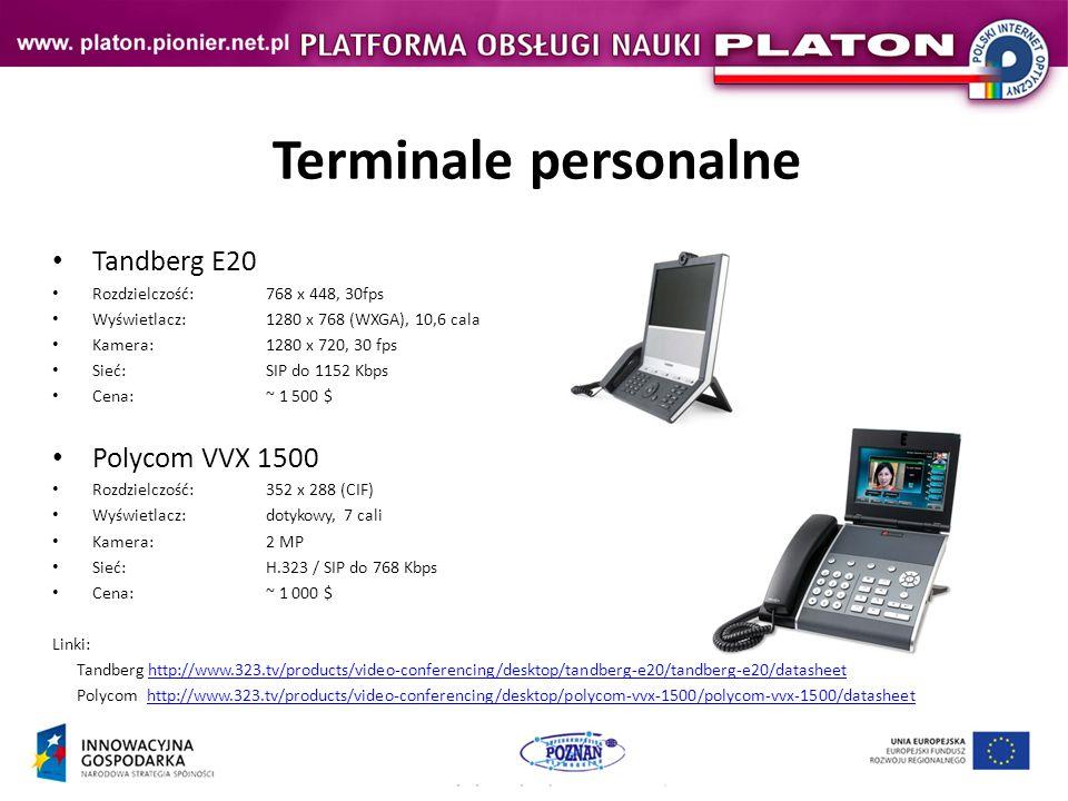 Terminale personalne Tandberg E20 Polycom VVX 1500