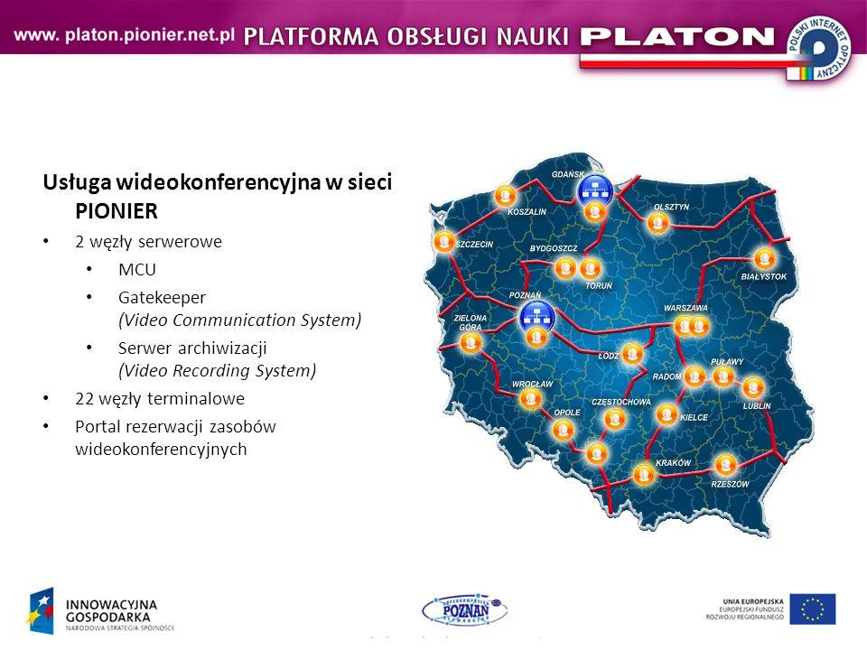 Usługa wideokonferencyjna w sieci PIONIER