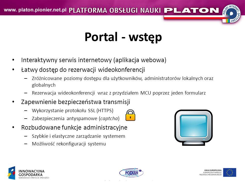 Portal - wstęp Interaktywny serwis internetowy (aplikacja webowa)