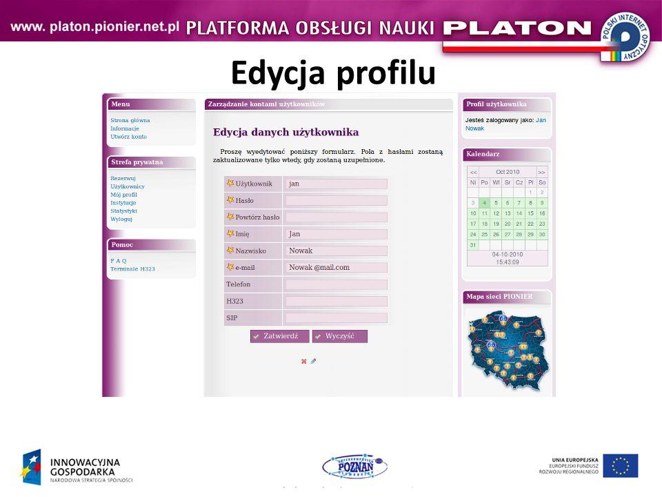 Edycja profilu