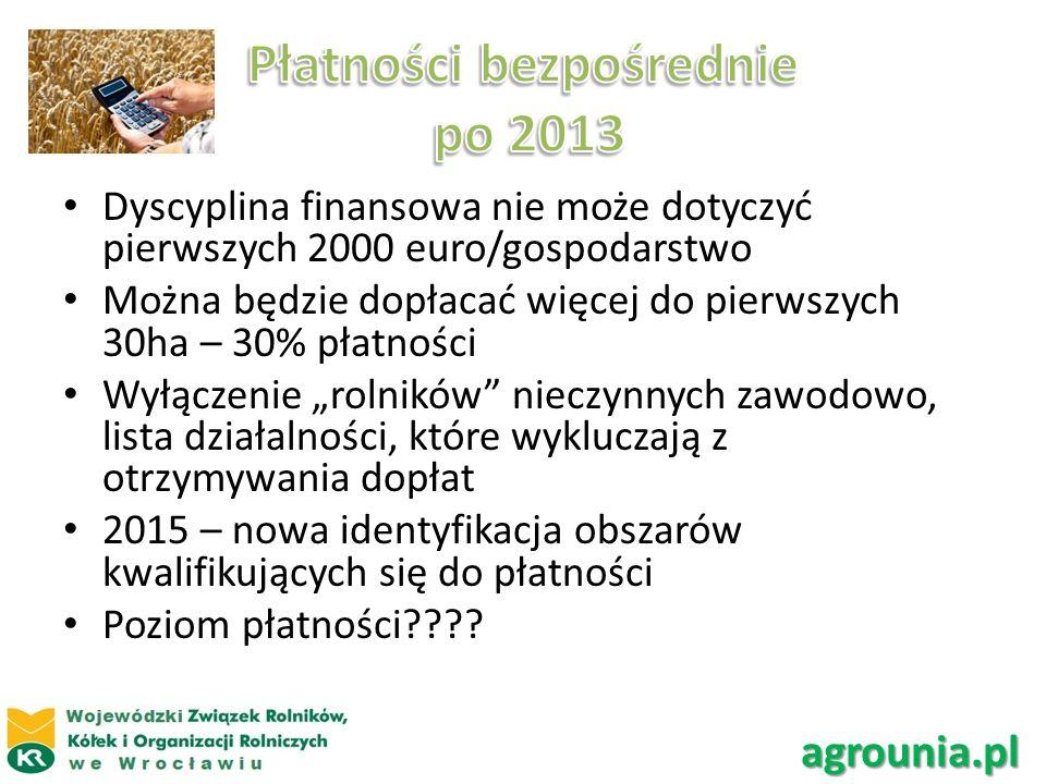 Płatności bezpośrednie po 2013