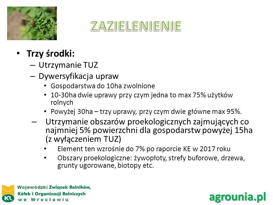 ZAZIELENIENIE agrounia.pl Trzy środki: Utrzymanie TUZ