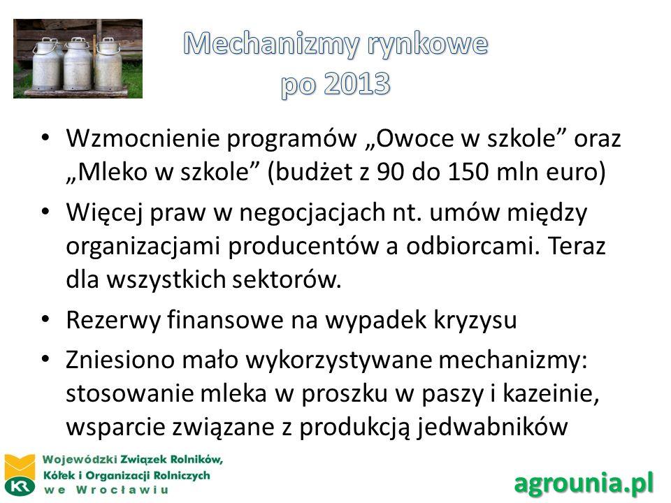 Mechanizmy rynkowe po 2013 agrounia.pl