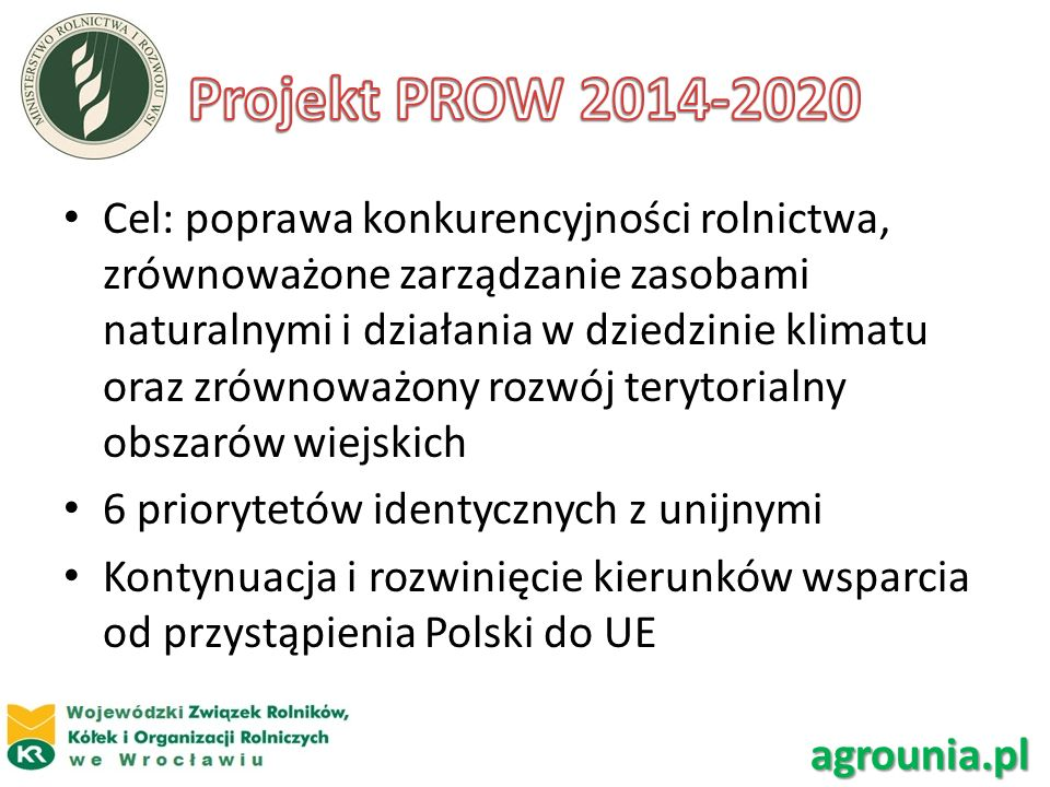Projekt PROW 2014-2020