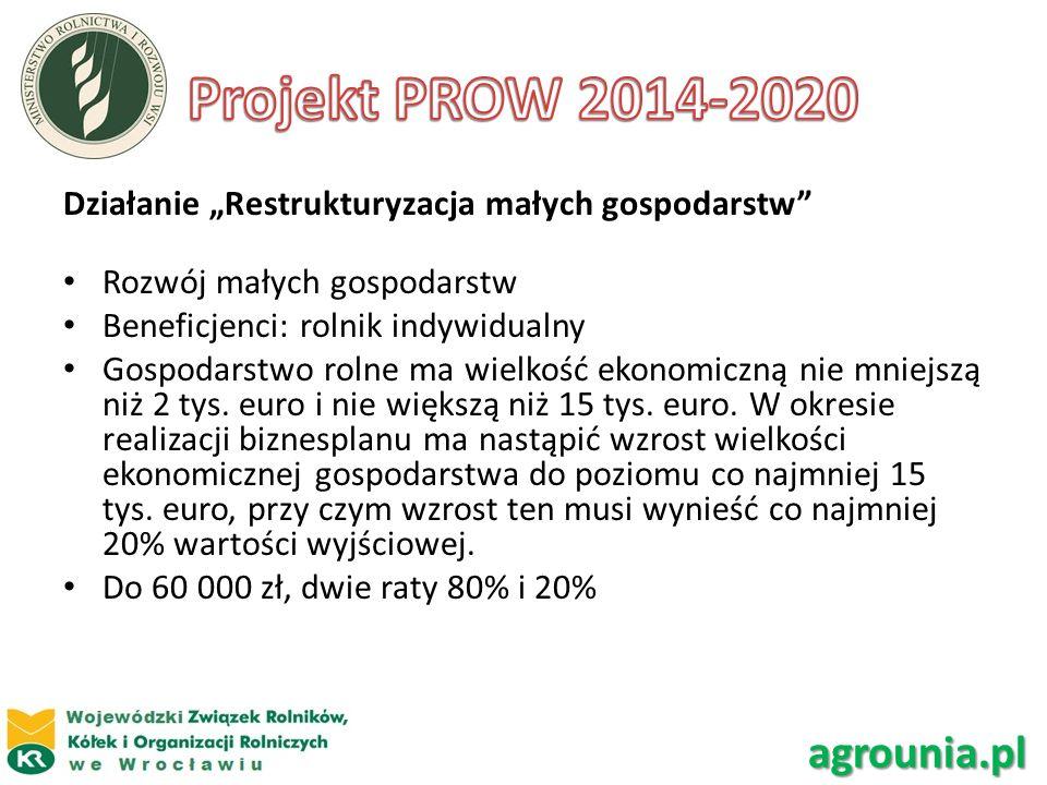 Projekt PROW 2014-2020 agrounia.pl