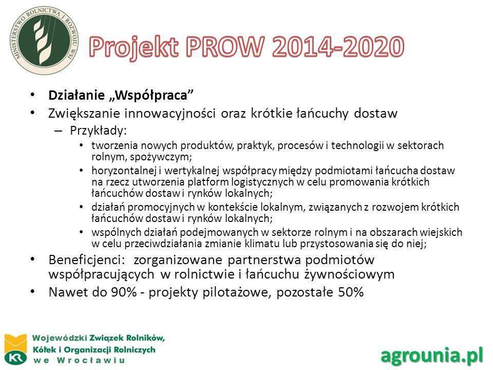"""Projekt PROW 2014-2020 agrounia.pl Działanie """"Współpraca"""