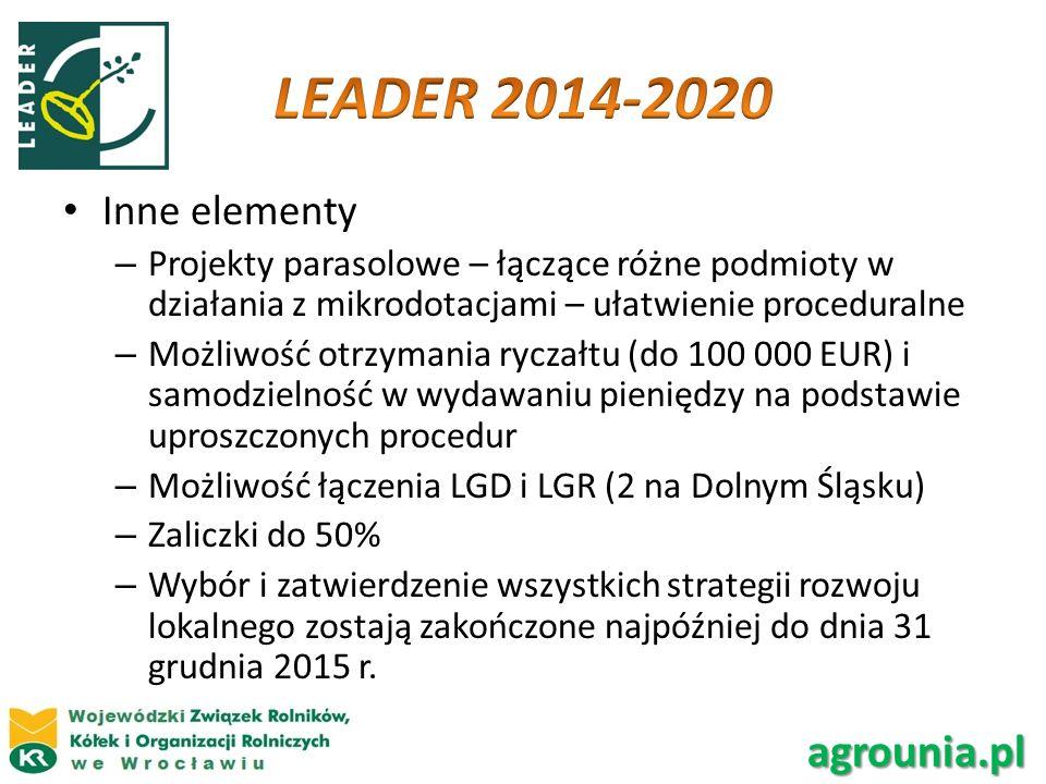 LEADER 2014-2020 agrounia.pl Inne elementy