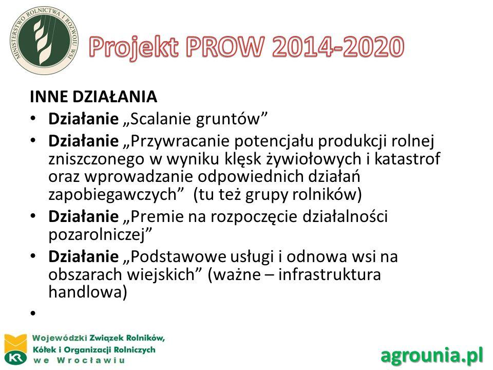 Projekt PROW 2014-2020 agrounia.pl INNE DZIAŁANIA