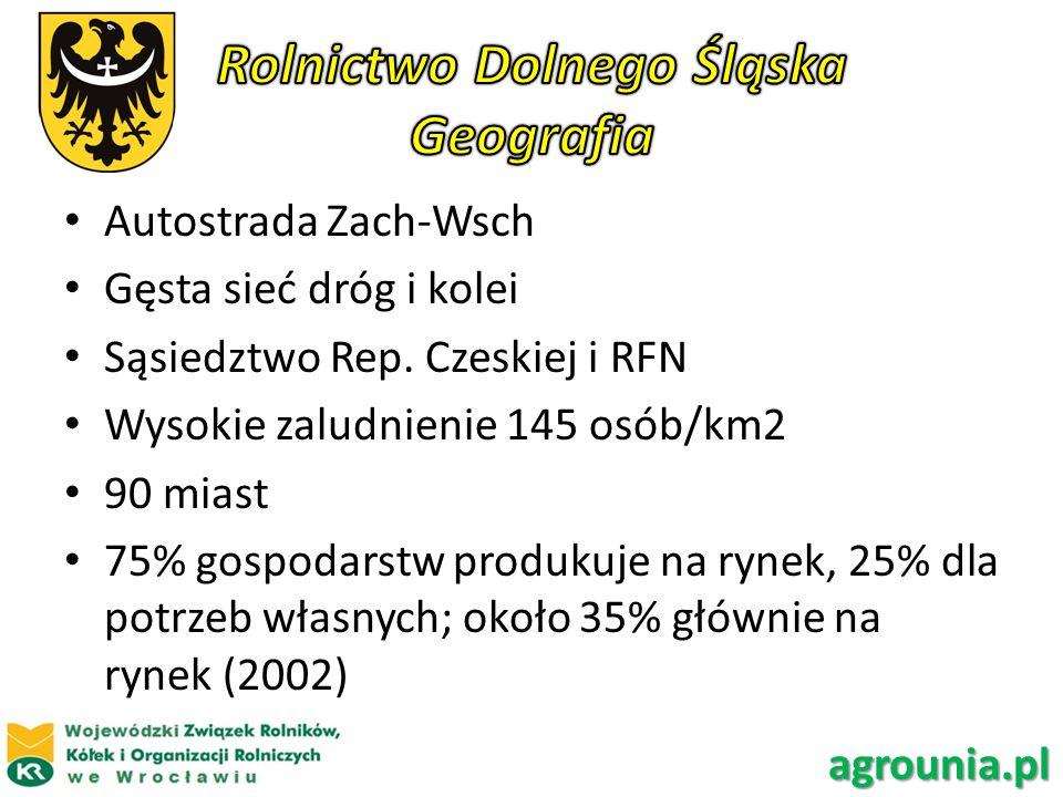 Rolnictwo Dolnego Śląska Geografia