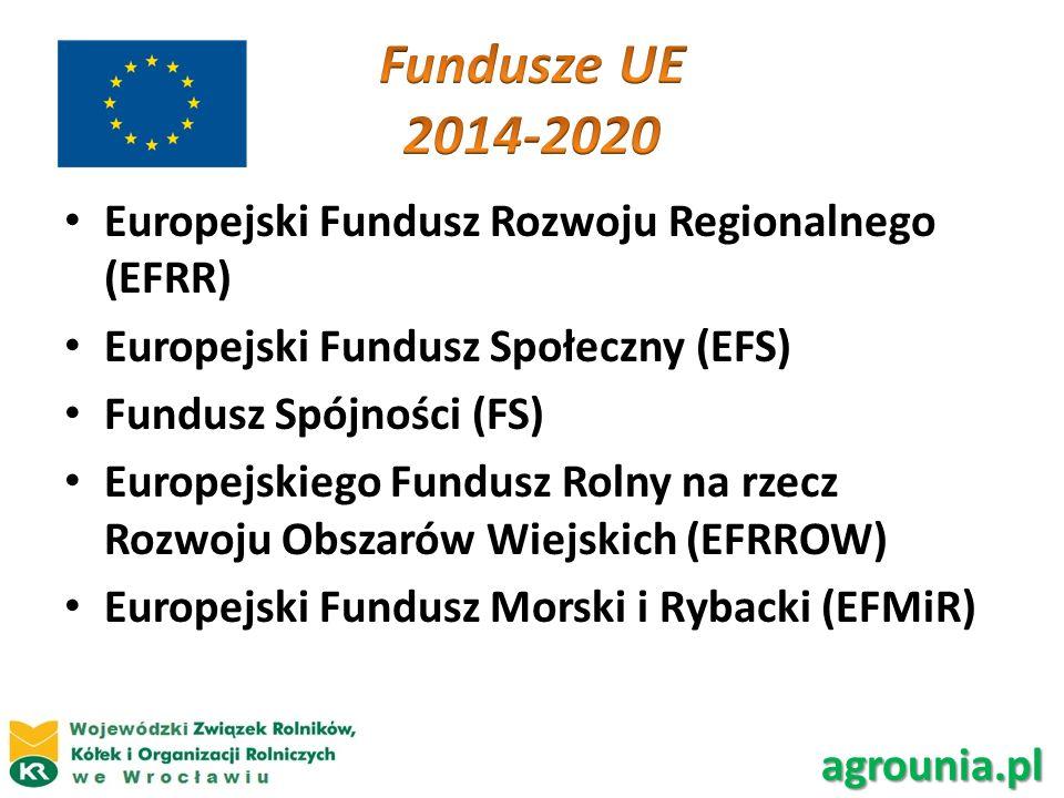 Fundusze UE 2014-2020 Europejski Fundusz Rozwoju Regionalnego (EFRR)