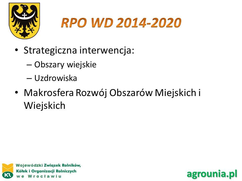 RPO WD 2014-2020 Strategiczna interwencja: