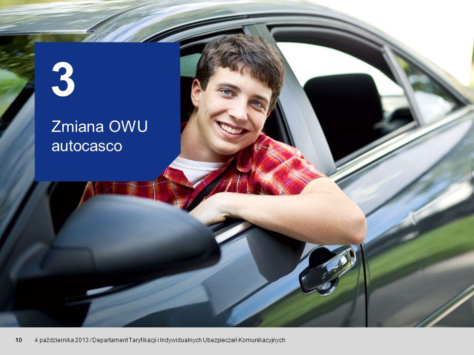 3 Zmiana OWU autocasco