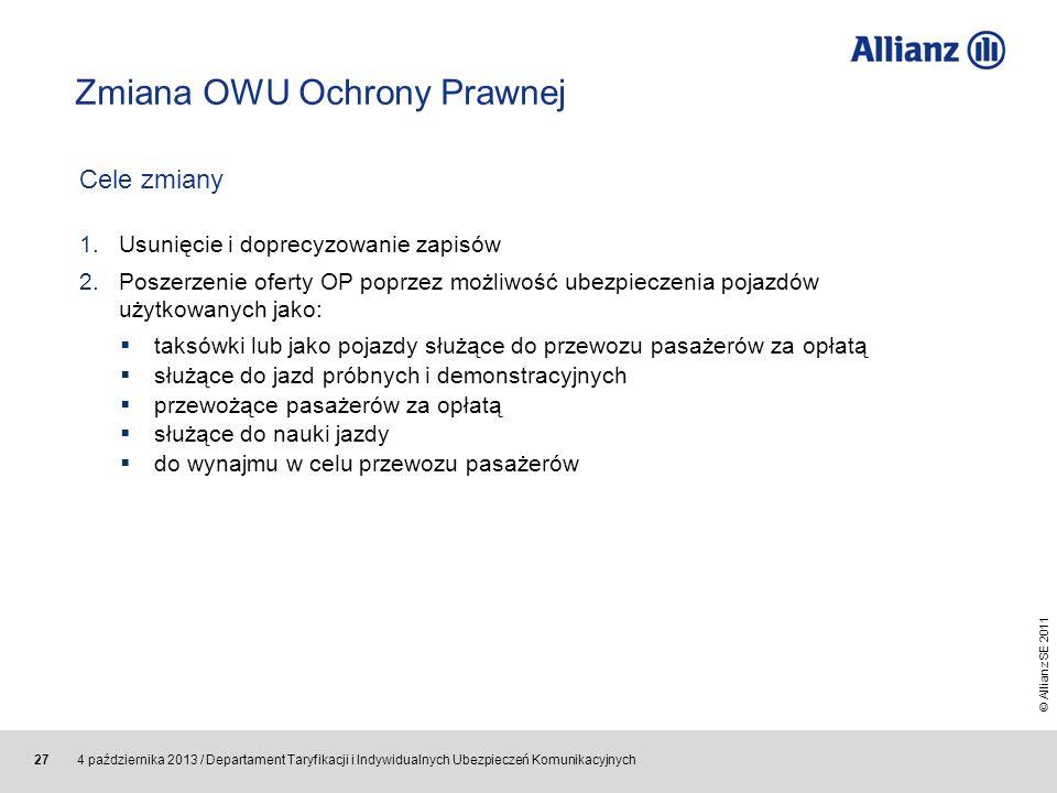 Zmiana OWU Ochrony Prawnej