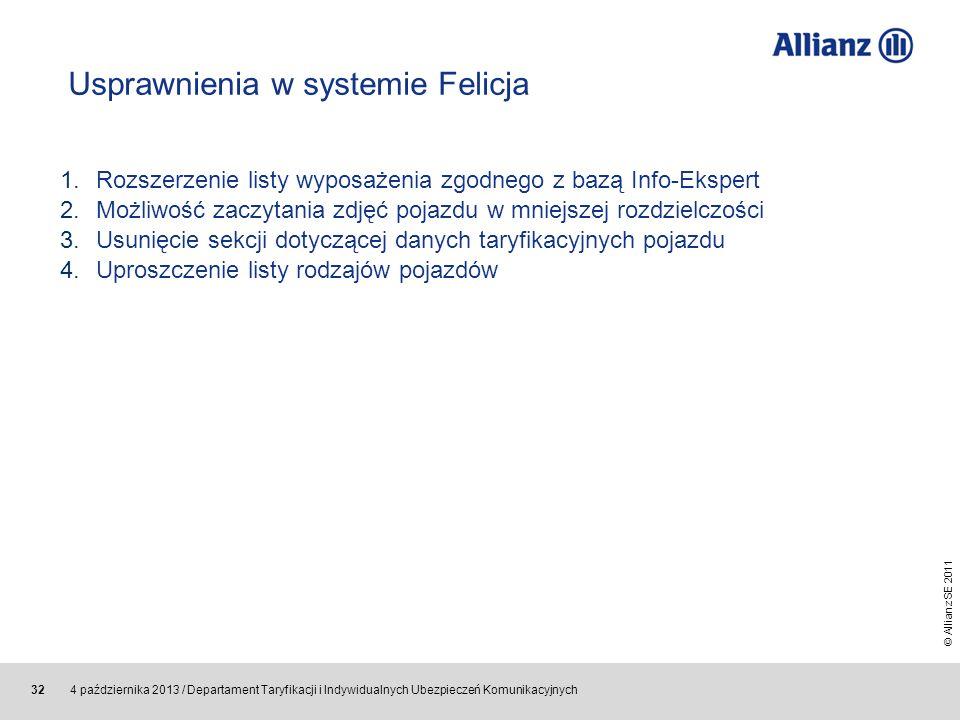 Usprawnienia w systemie Felicja