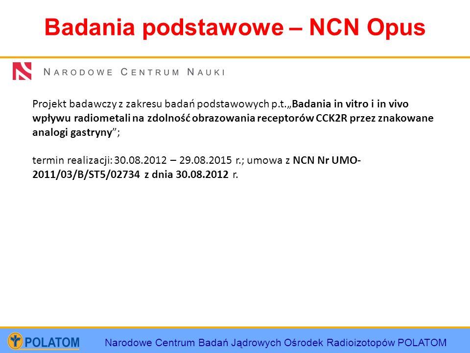 Badania podstawowe – NCN Opus