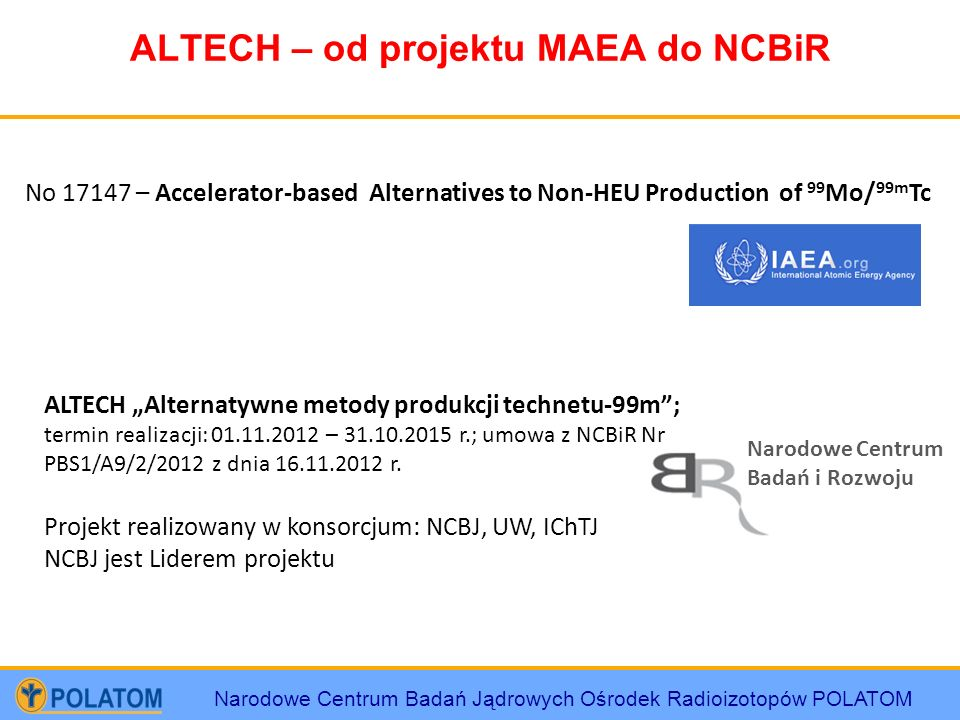 ALTECH – od projektu MAEA do NCBiR