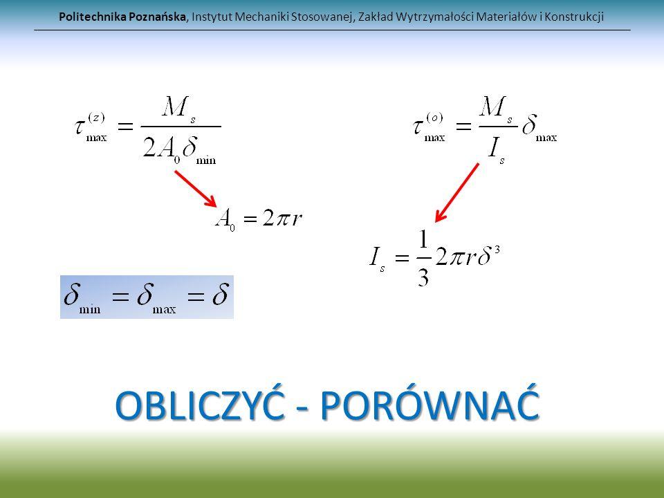 Politechnika Poznańska, Instytut Mechaniki Stosowanej, Zakład Wytrzymałości Materiałów i Konstrukcji