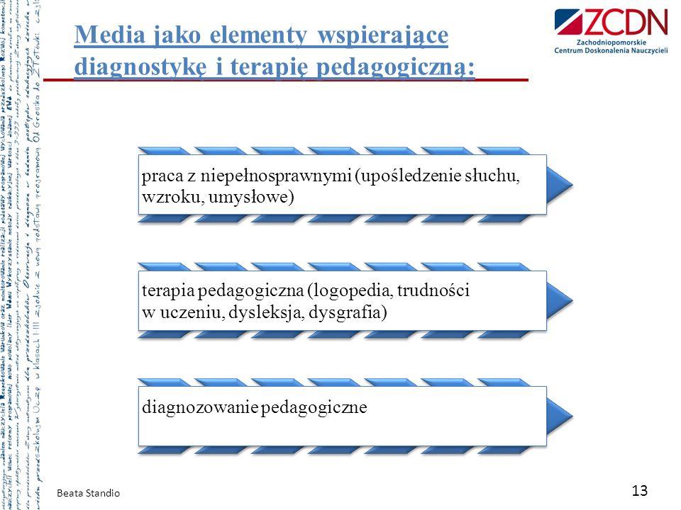 Media jako elementy wspierające diagnostykę i terapię pedagogiczną: