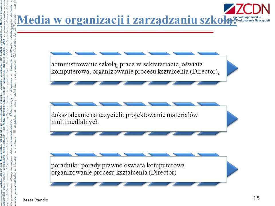 Media w organizacji i zarządzaniu szkołą: