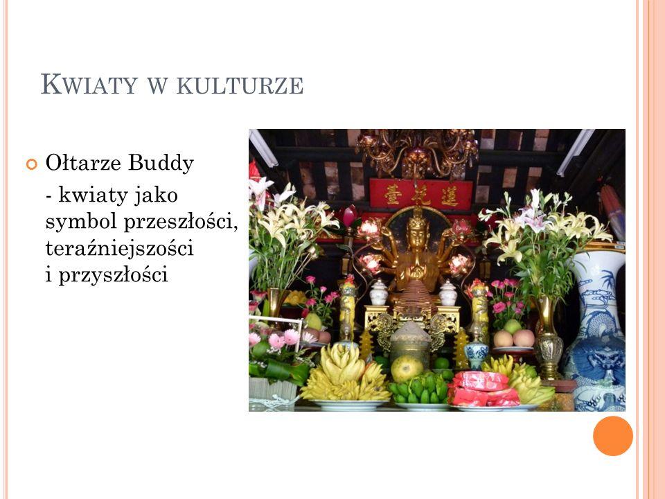 Kwiaty w kulturze Ołtarze Buddy