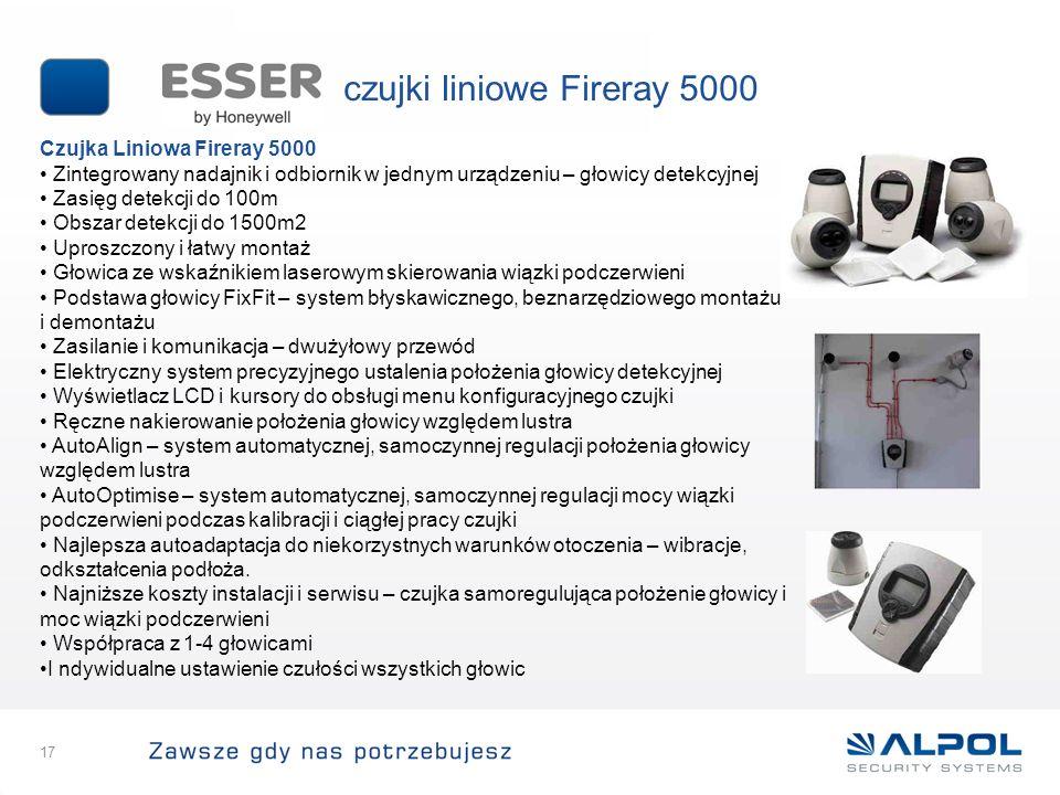 czujki liniowe Fireray 5000