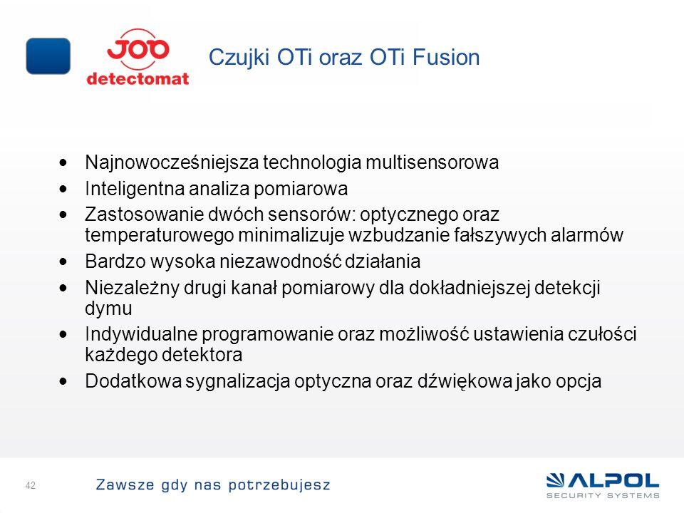 Czujki OTi oraz OTi Fusion