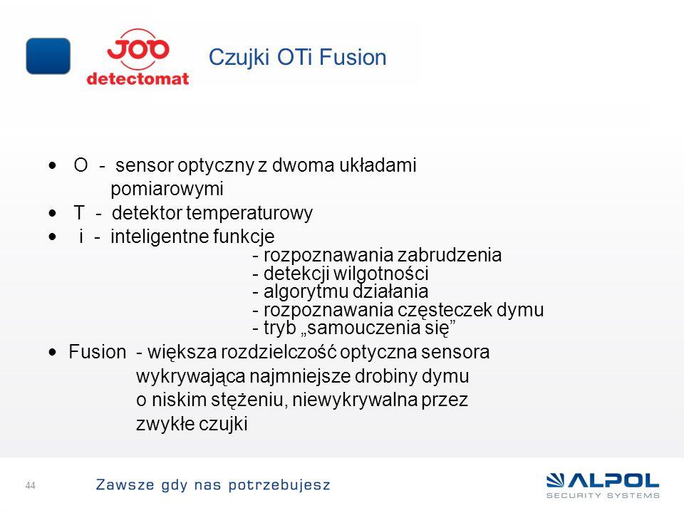 Czujki OTi Fusion O - sensor optyczny z dwoma układami pomiarowymi