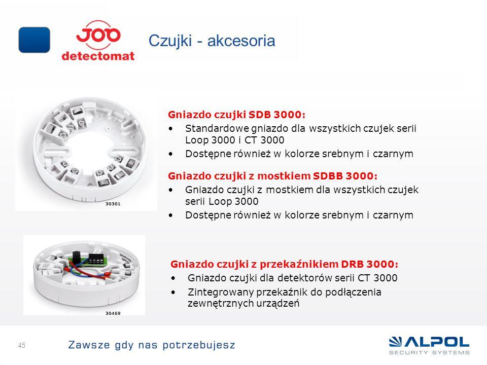 Czujki - akcesoria Gniazdo czujki SDB 3000: