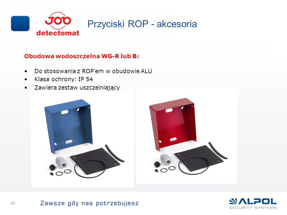 Przyciski ROP - akcesoria