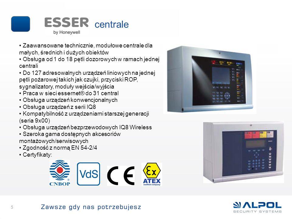 centrale Zaawansowane technicznie, modułowe centrale dla małych, średnich i dużych obiektów.