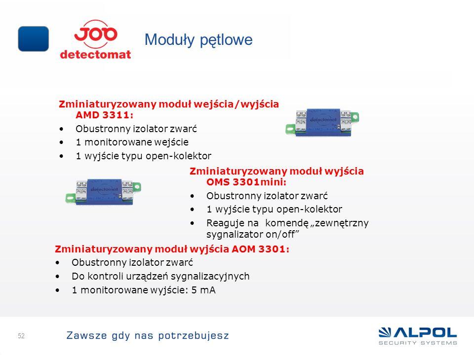 Moduły pętlowe Zminiaturyzowany moduł wejścia/wyjścia AMD 3311: