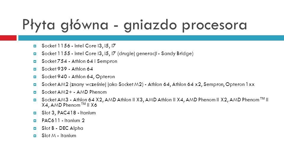 Płyta główna - gniazdo procesora