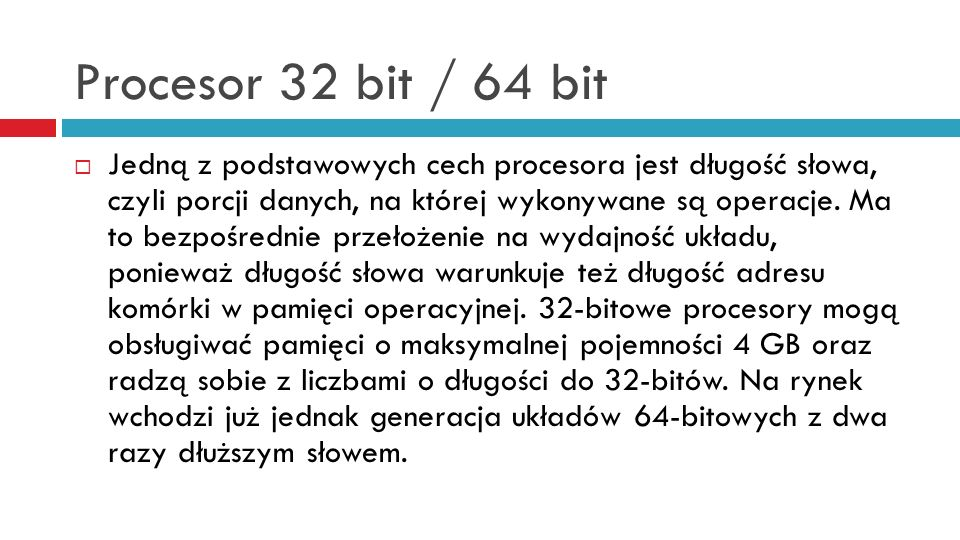 Procesor 32 bit / 64 bit
