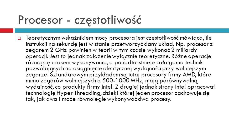 Procesor - częstotliwość