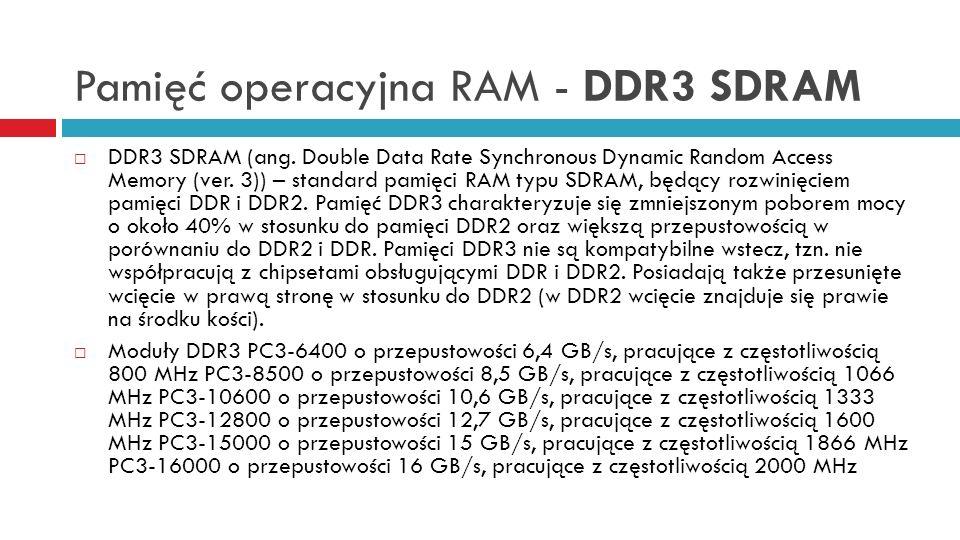Pamięć operacyjna RAM - DDR3 SDRAM