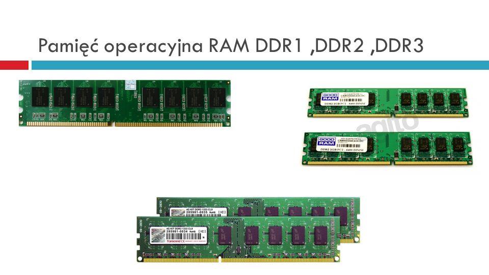 Pamięć operacyjna RAM DDR1 ,DDR2 ,DDR3