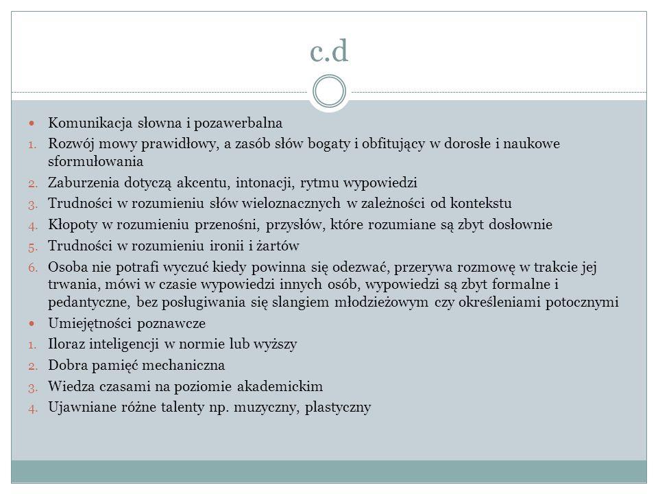 c.d Komunikacja słowna i pozawerbalna