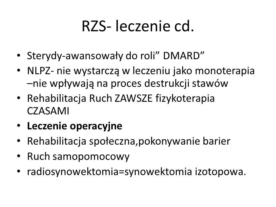 RZS- leczenie cd. Sterydy-awansowały do roli DMARD