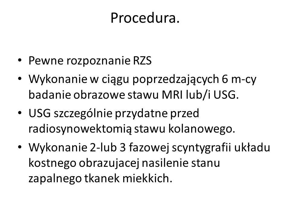 Procedura. Pewne rozpoznanie RZS