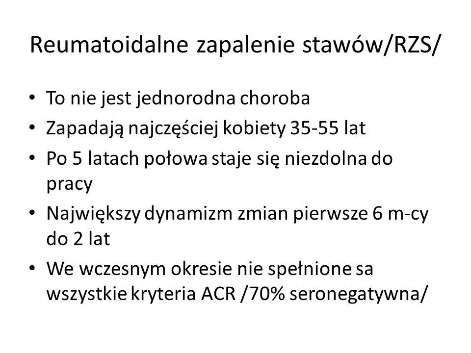 Reumatoidalne zapalenie stawów/RZS/