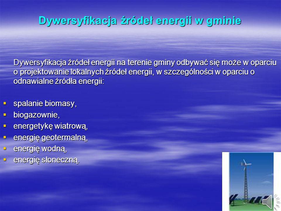 Dywersyfikacja źródeł energii w gminie