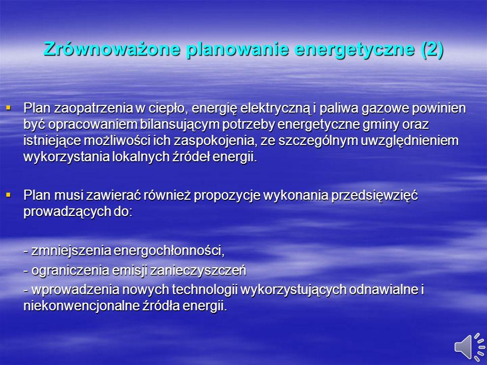 Zrównoważone planowanie energetyczne (2)