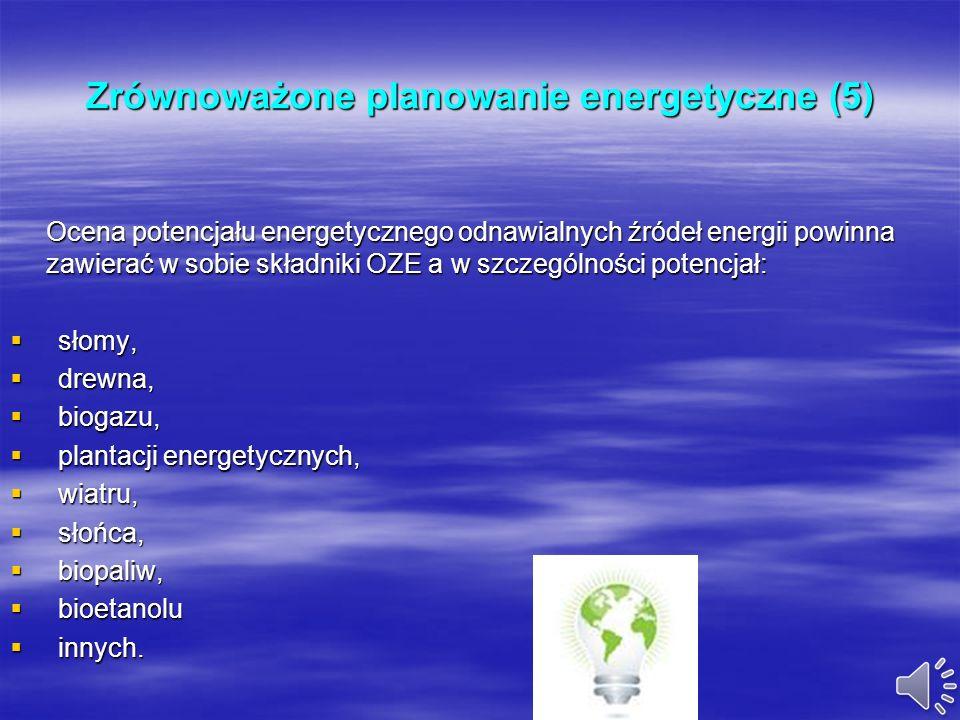 Zrównoważone planowanie energetyczne (5)