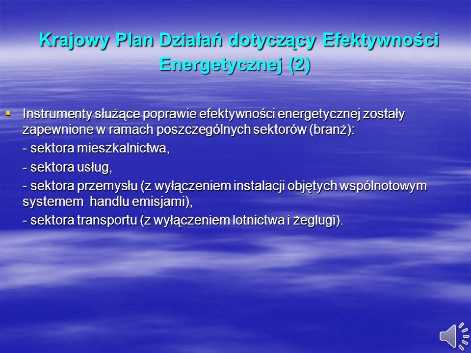 Krajowy Plan Działań dotyczący Efektywności Energetycznej (2)